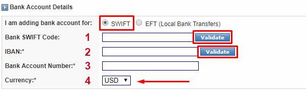 validar conta do banco pra receber ganhos do camming